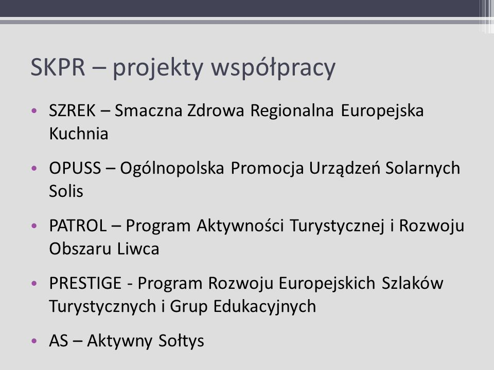 SKPR – projekty współpracy