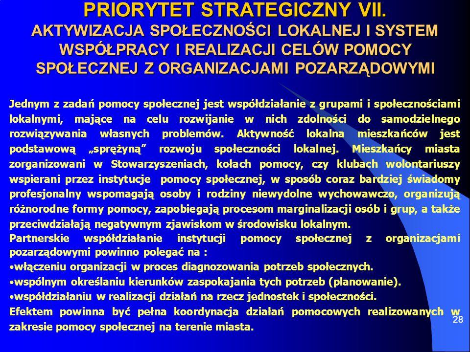 PRIORYTET STRATEGICZNY VII