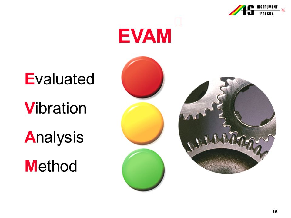 EVAM Evaluated Vibration Analysis Method â