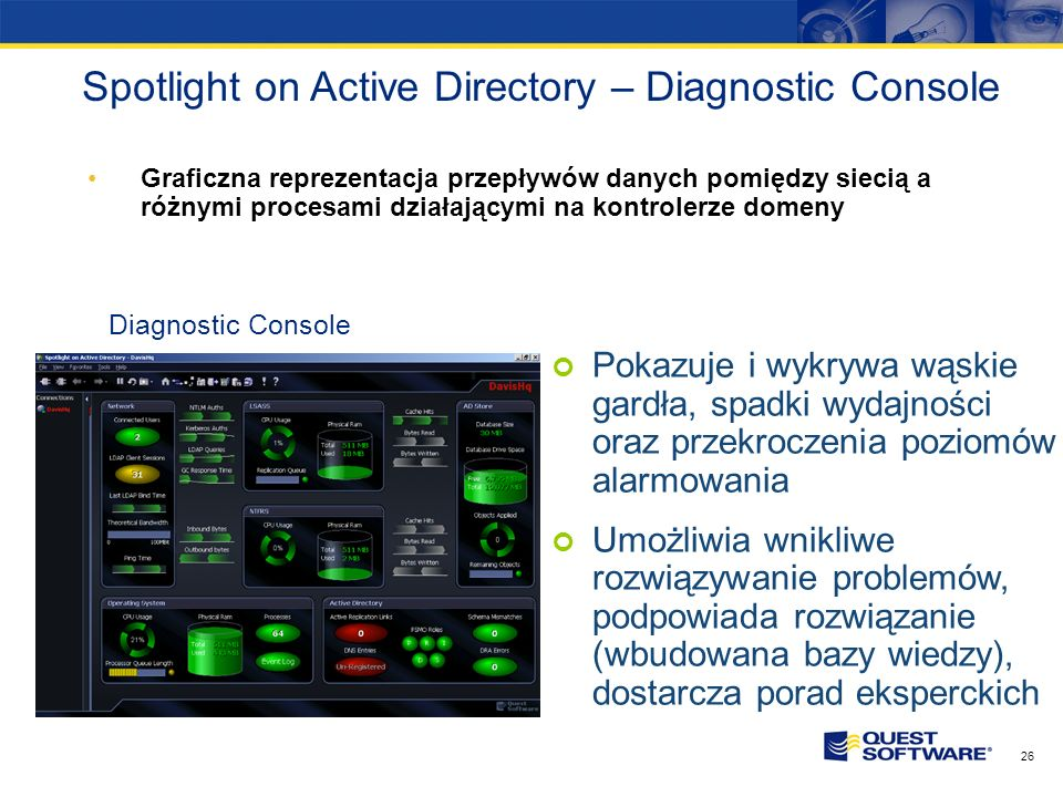 Spotlight on Active Directory – Diagnostic Console