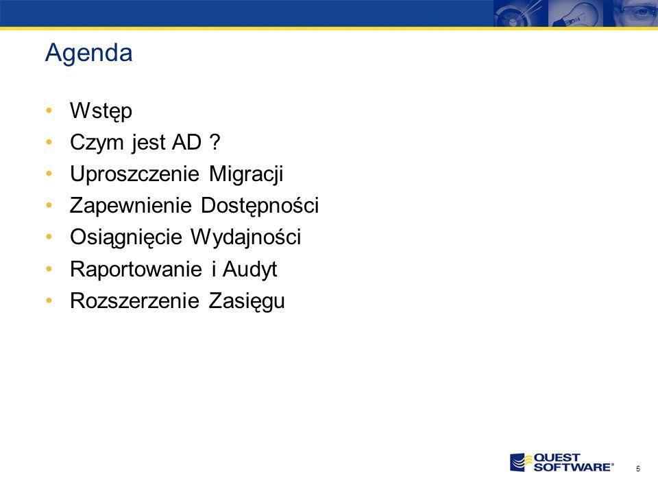 Agenda Wstęp Czym jest AD Uproszczenie Migracji