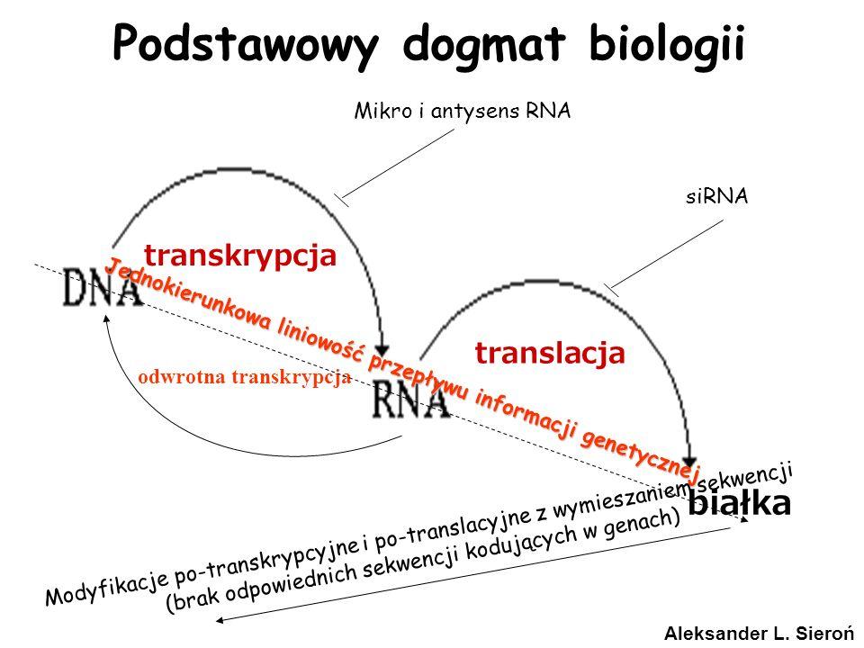 Podstawowy dogmat biologii odwrotna transkrypcja