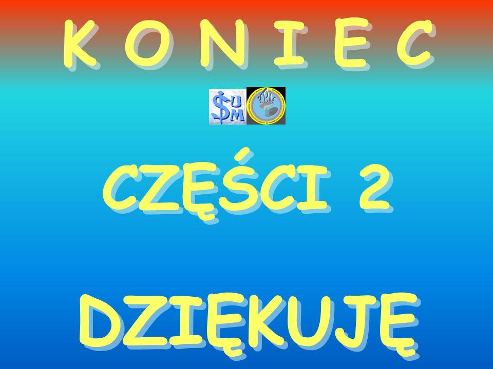 K O N I E C CZĘŚCI 2 DZIĘKUJĘ