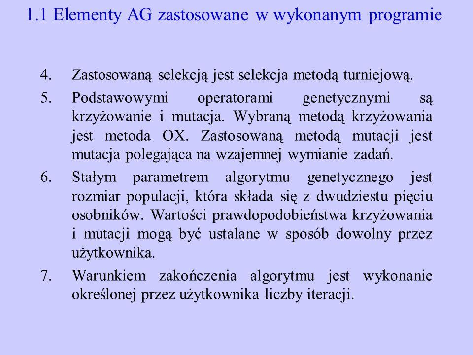 1.1 Elementy AG zastosowane w wykonanym programie