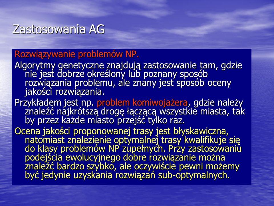 Zastosowania AG Rozwiązywanie problemów NP.