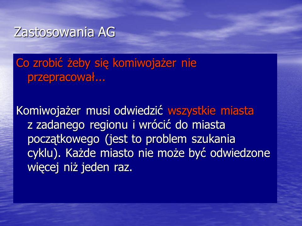Zastosowania AG Co zrobić żeby się komiwojażer nie przepracował...