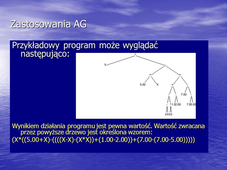 Zastosowania AG Przykładowy program może wyglądać następująco: