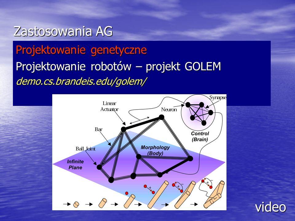 Zastosowania AG video Projektowanie genetyczne