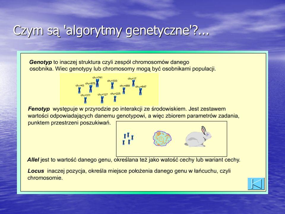 Czym są algorytmy genetyczne ...