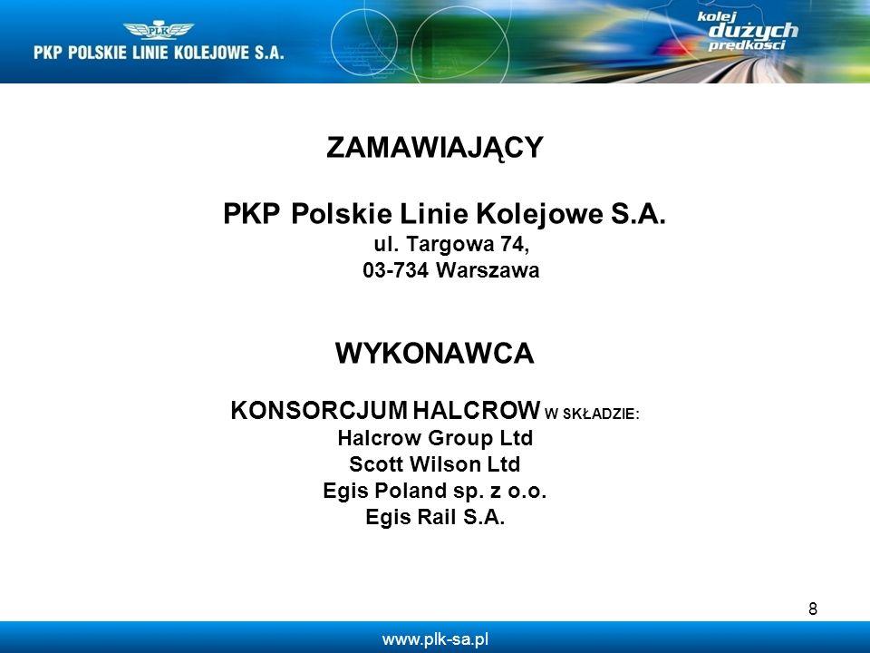 PKP Polskie Linie Kolejowe S.A. KONSORCJUM HALCROW W SKŁADZIE: