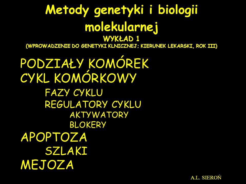 Metody genetyki i biologii molekularnej WYKŁAD 1 (WPROWADZENIE DO GENETYKI KLNICZNEJ; KIERUNEK LEKARSKI, ROK III)