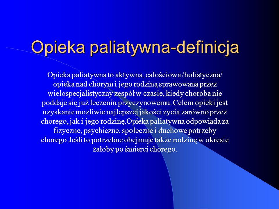 Opieka paliatywna-definicja