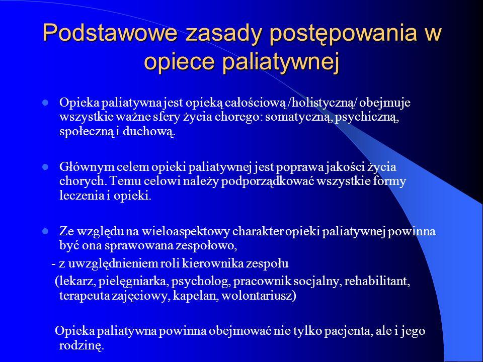 Podstawowe zasady postępowania w opiece paliatywnej