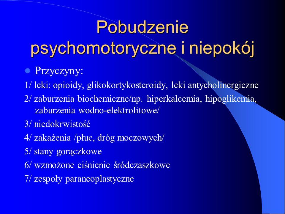 Pobudzenie psychomotoryczne i niepokój