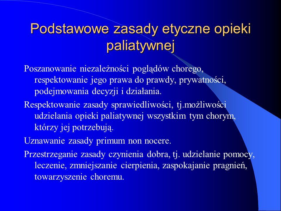 Podstawowe zasady etyczne opieki paliatywnej