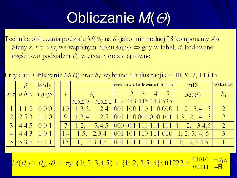 Obliczanie M()