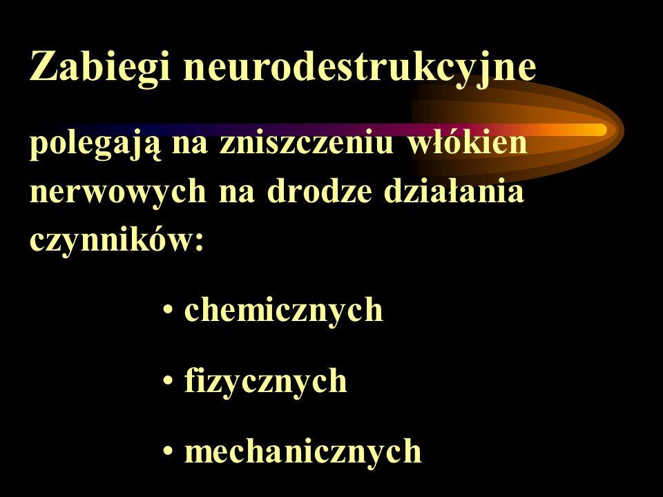 Zabiegi neurodestrukcyjne