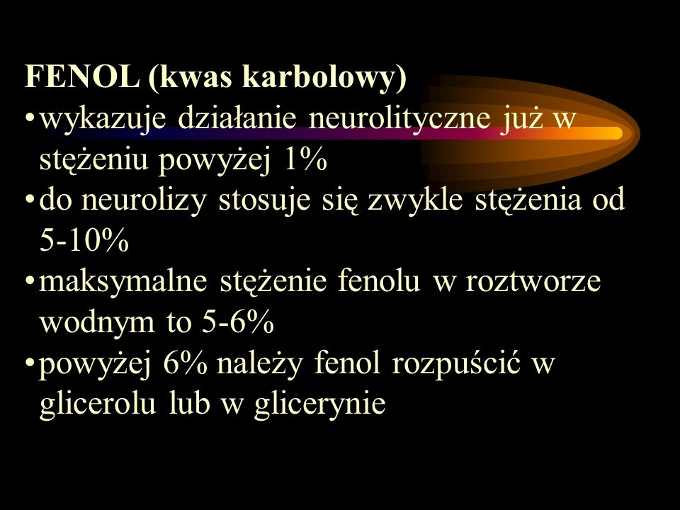 FENOL (kwas karbolowy)