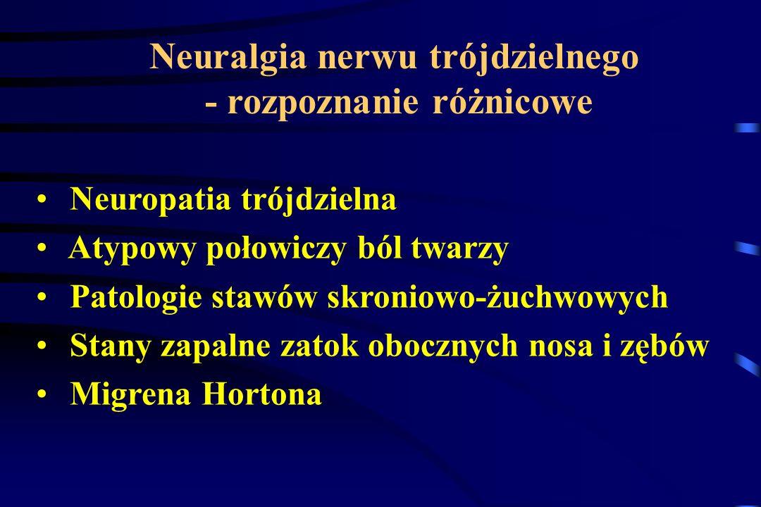 Neuralgia nerwu trójdzielnego - rozpoznanie różnicowe
