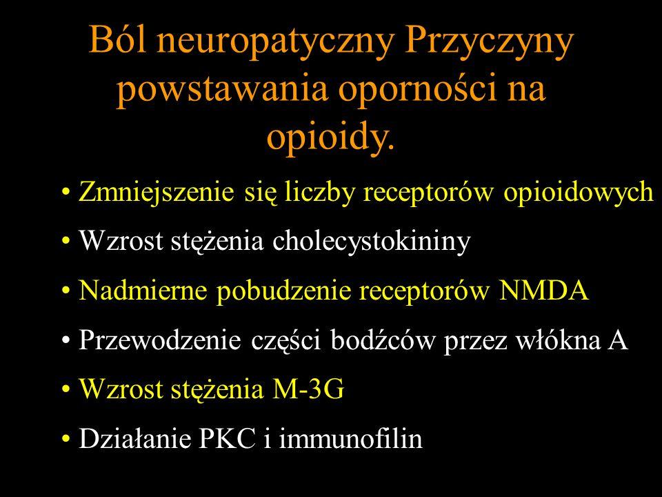 Ból neuropatyczny Przyczyny powstawania oporności na opioidy.