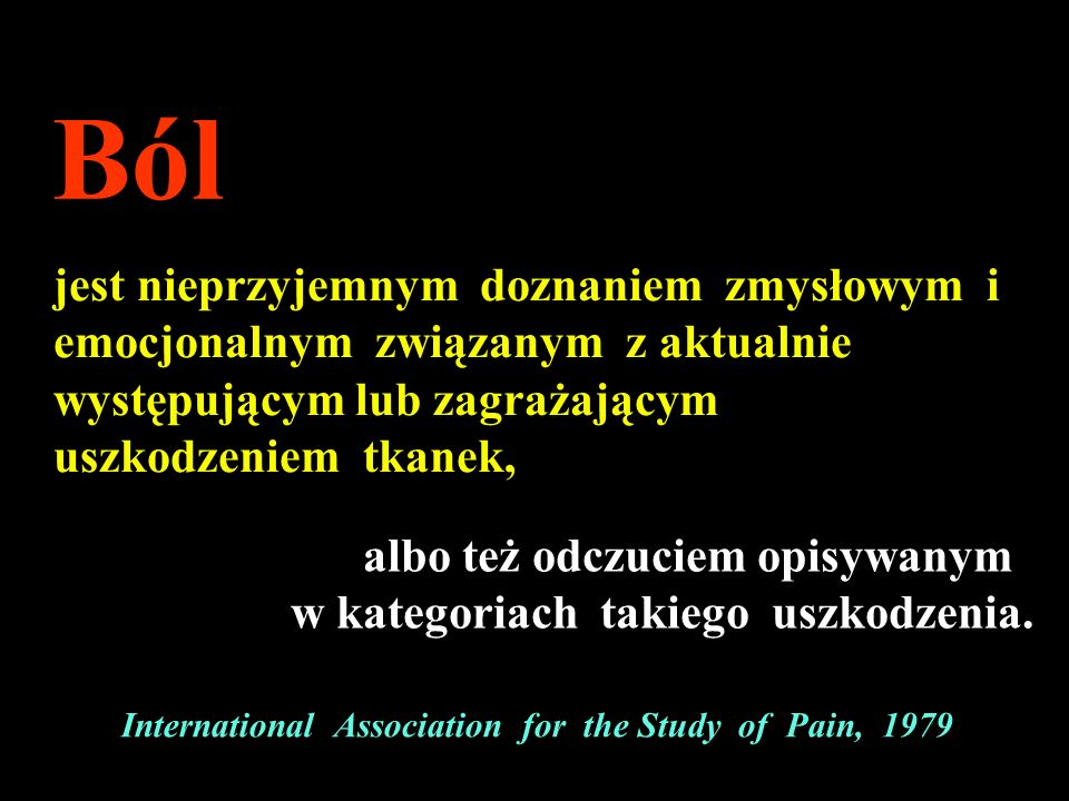 International Association for the Study of Pain, 1979