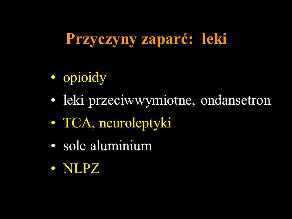 Przyczyny zaparć: leki