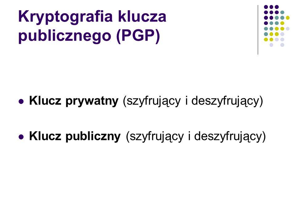 Kryptografia klucza publicznego (PGP)