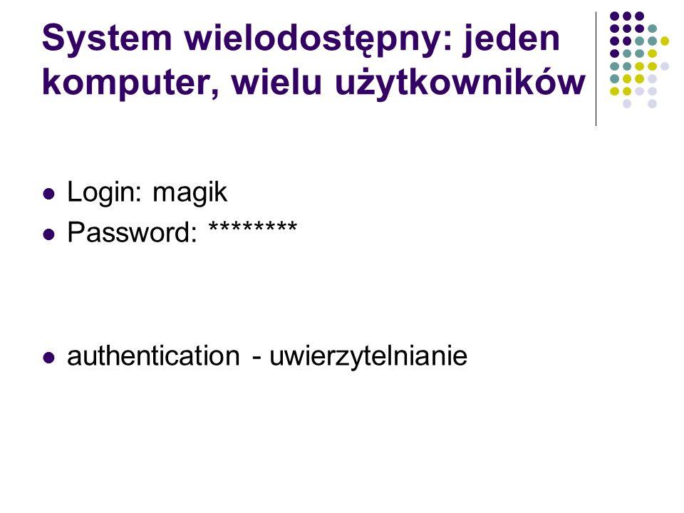 System wielodostępny: jeden komputer, wielu użytkowników