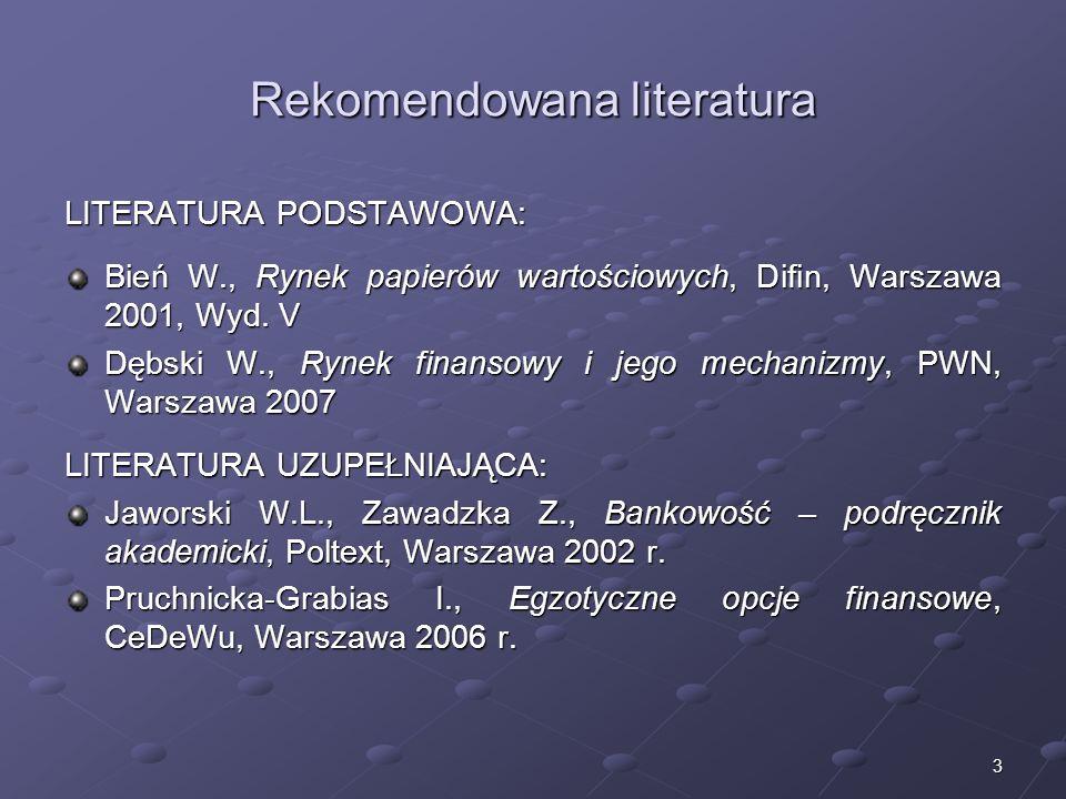 Rekomendowana literatura