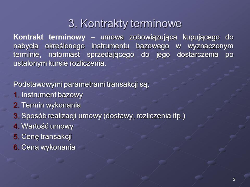 3. Kontrakty terminowe