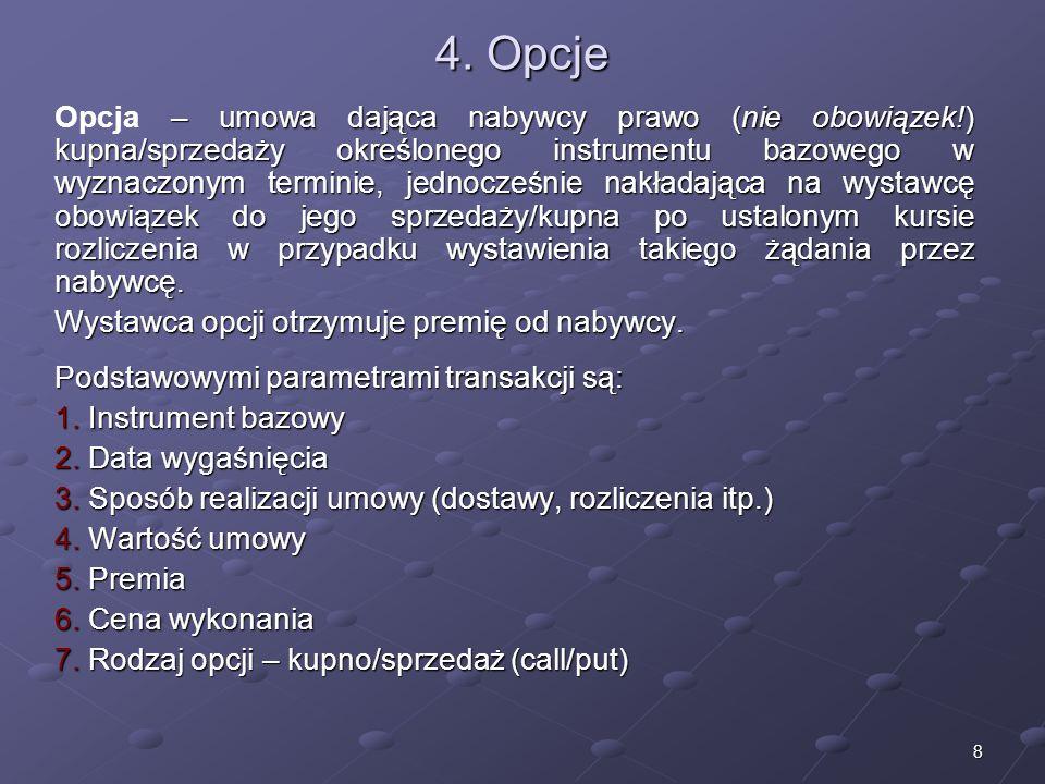 4. Opcje