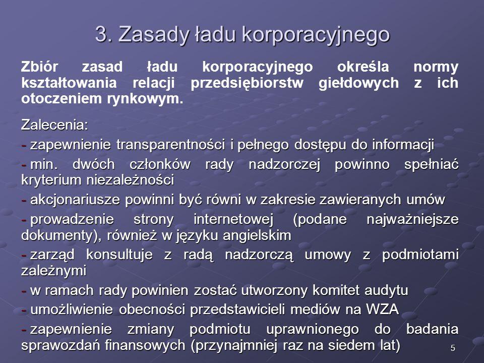 3. Zasady ładu korporacyjnego
