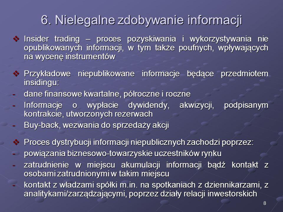 6. Nielegalne zdobywanie informacji