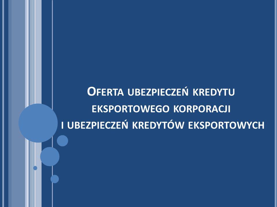 Oferta ubezpieczeń kredytu eksportowego korporacji i ubezpieczeń kredytów eksportowych