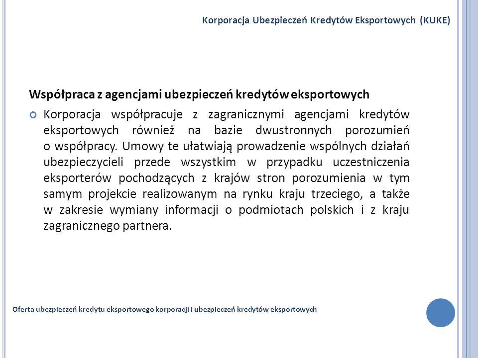 Współpraca z agencjami ubezpieczeń kredytów eksportowych