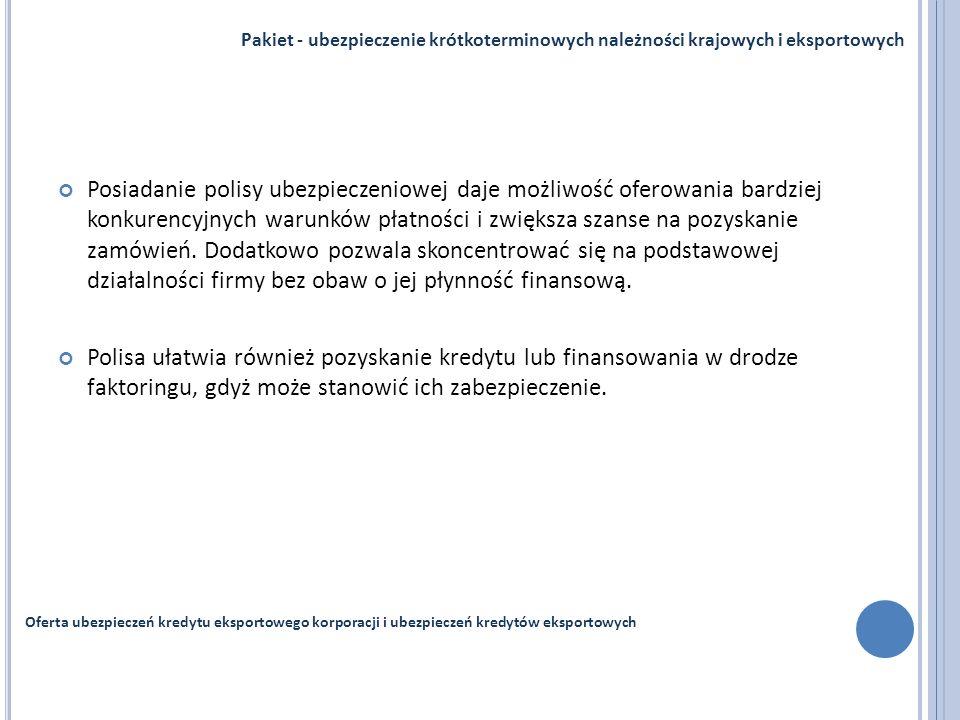 Pakiet - ubezpieczenie krótkoterminowych należności krajowych i eksportowych