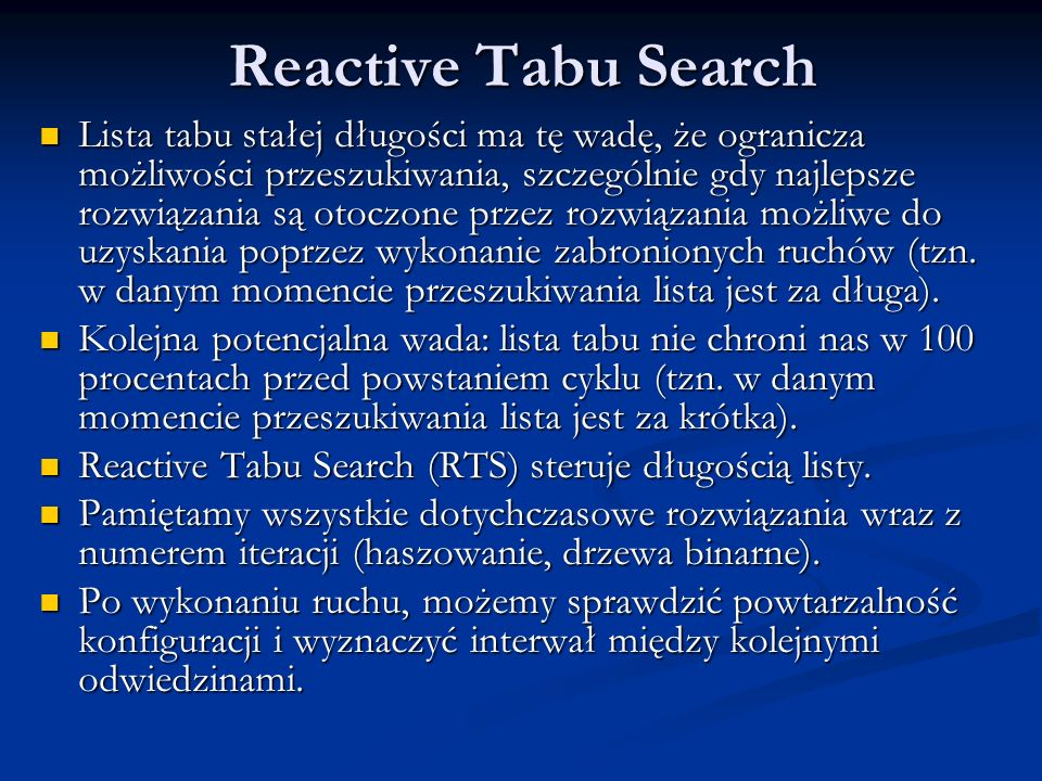 Reactive Tabu Search