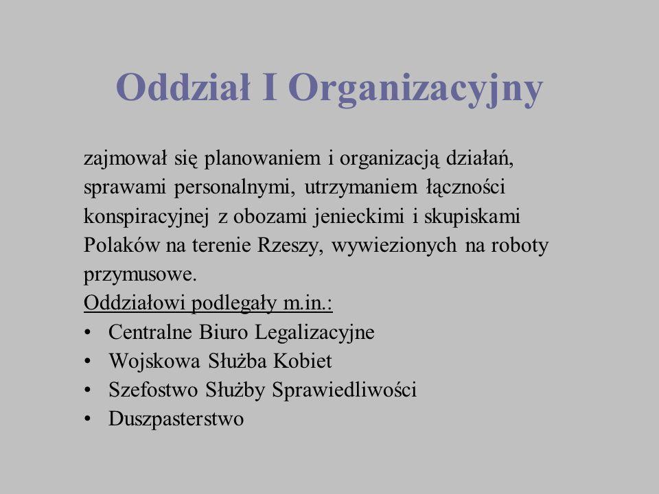 Oddział I Organizacyjny