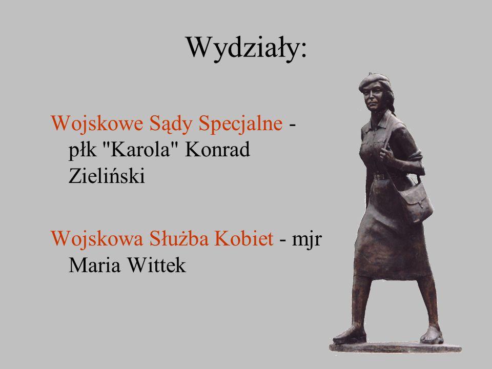 Wydziały: Wojskowe Sądy Specjalne - płk Karola Konrad Zieliński