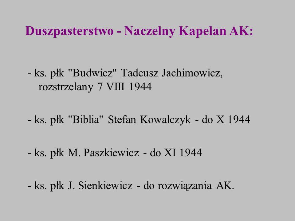Duszpasterstwo - Naczelny Kapelan AK: