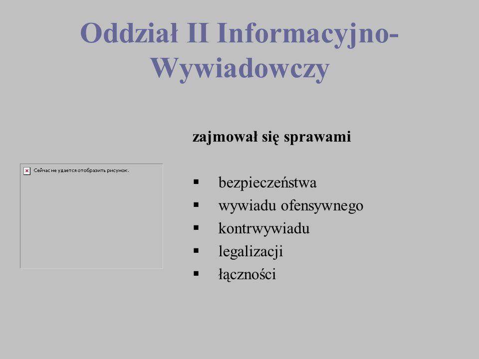 Oddział II Informacyjno-Wywiadowczy