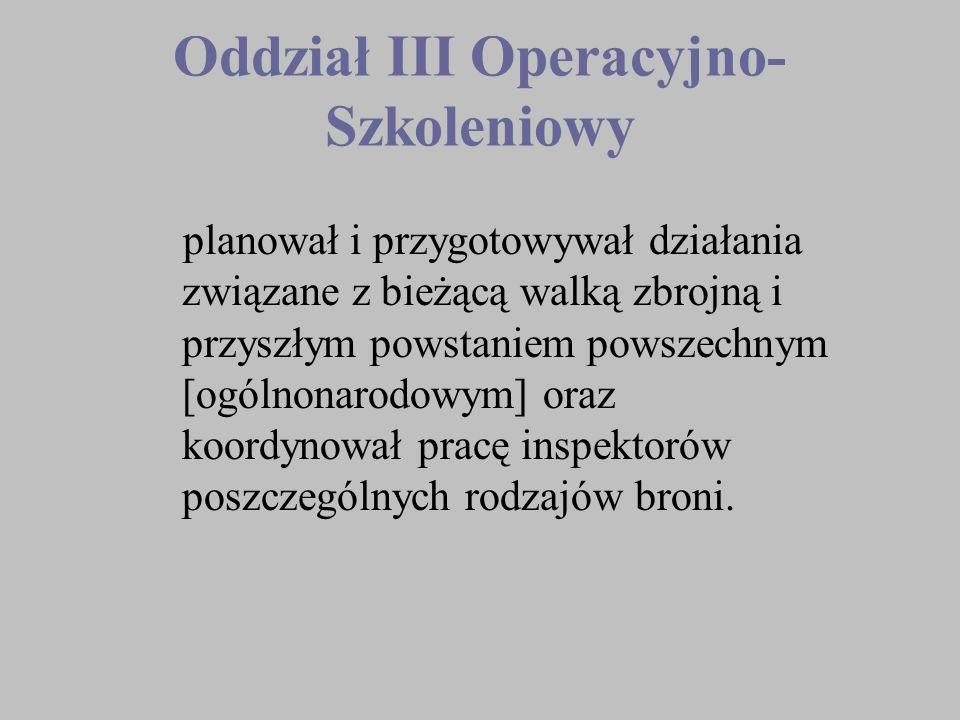 Oddział III Operacyjno-Szkoleniowy