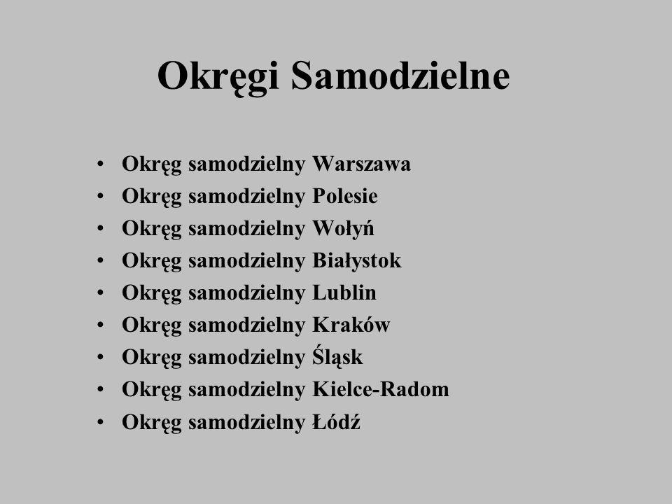 Okręgi Samodzielne Okręg samodzielny Warszawa