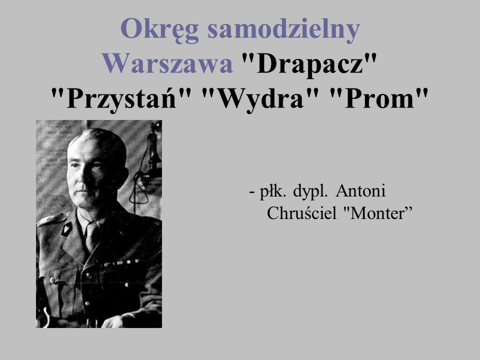 Okręg samodzielny Warszawa Drapacz Przystań Wydra Prom