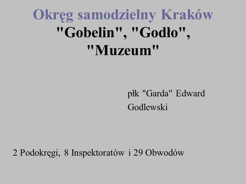 Okręg samodzielny Kraków Gobelin , Godło , Muzeum