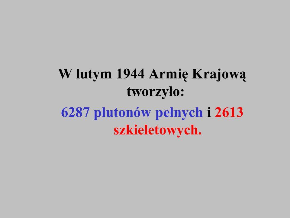 W lutym 1944 Armię Krajową tworzyło: