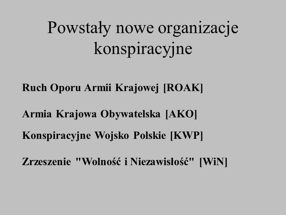 Powstały nowe organizacje konspiracyjne