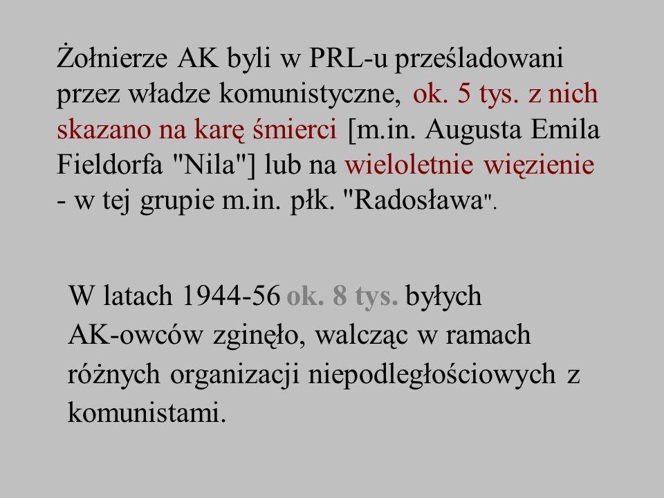 AK-owców zginęło, walcząc w ramach