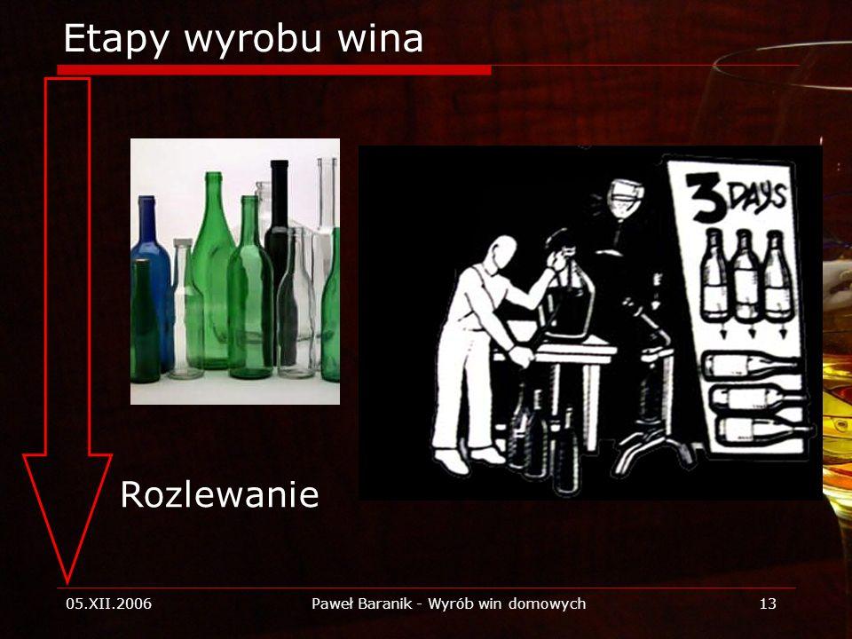 Paweł Baranik - Wyrób win domowych
