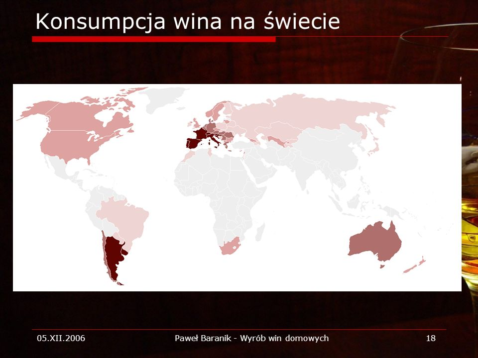 Konsumpcja wina na świecie
